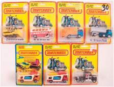 Group of 7 Matchbox Die-Cast Cars in Original Packaging