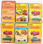 Group of 6 Matchbox Die-Cast Cars in Original Packaging