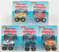 Group of 5 Matchbox Super Trucks Die-Cast Monster