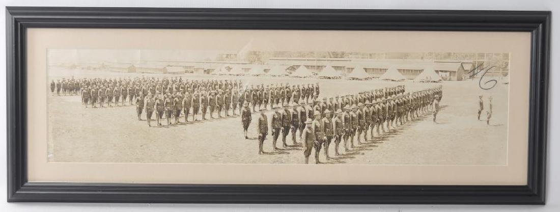 WW1 US Army Photograph Featuring Soldiers at Attention