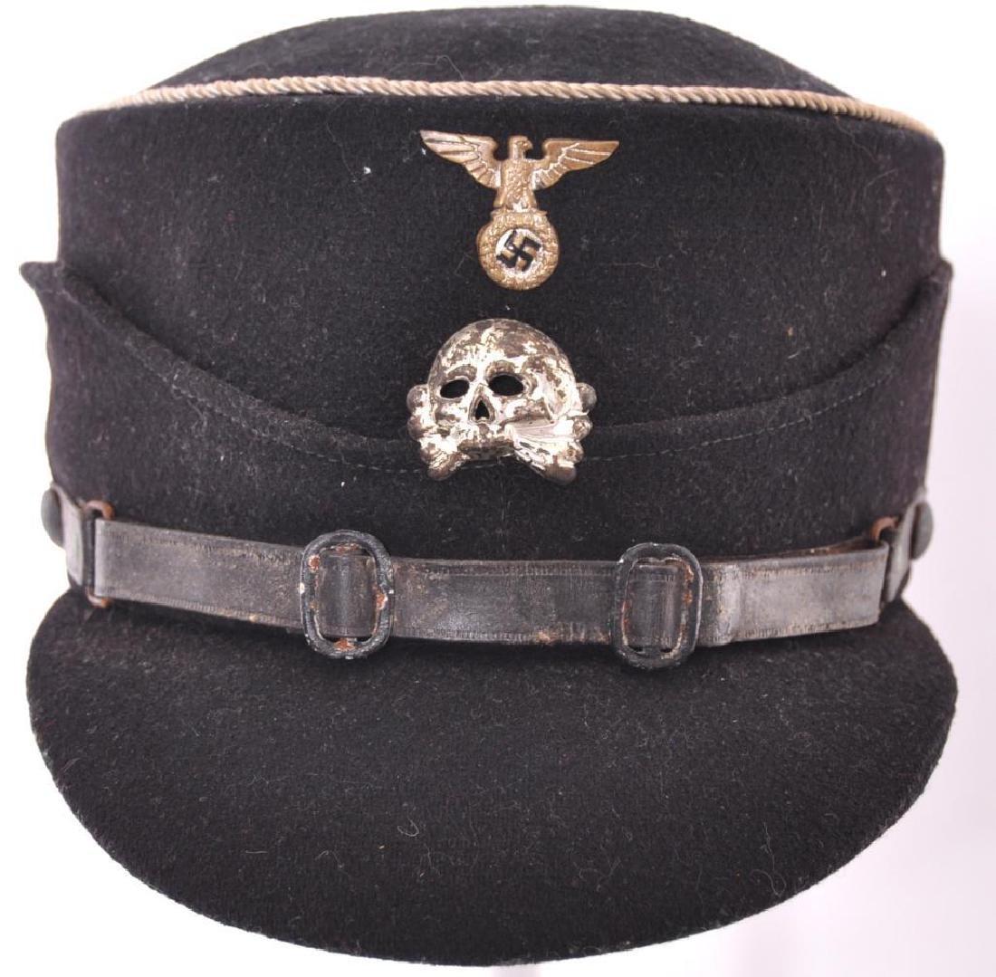 """WW2 German SS Early """"Coffee Can"""" Kepi Hat"""