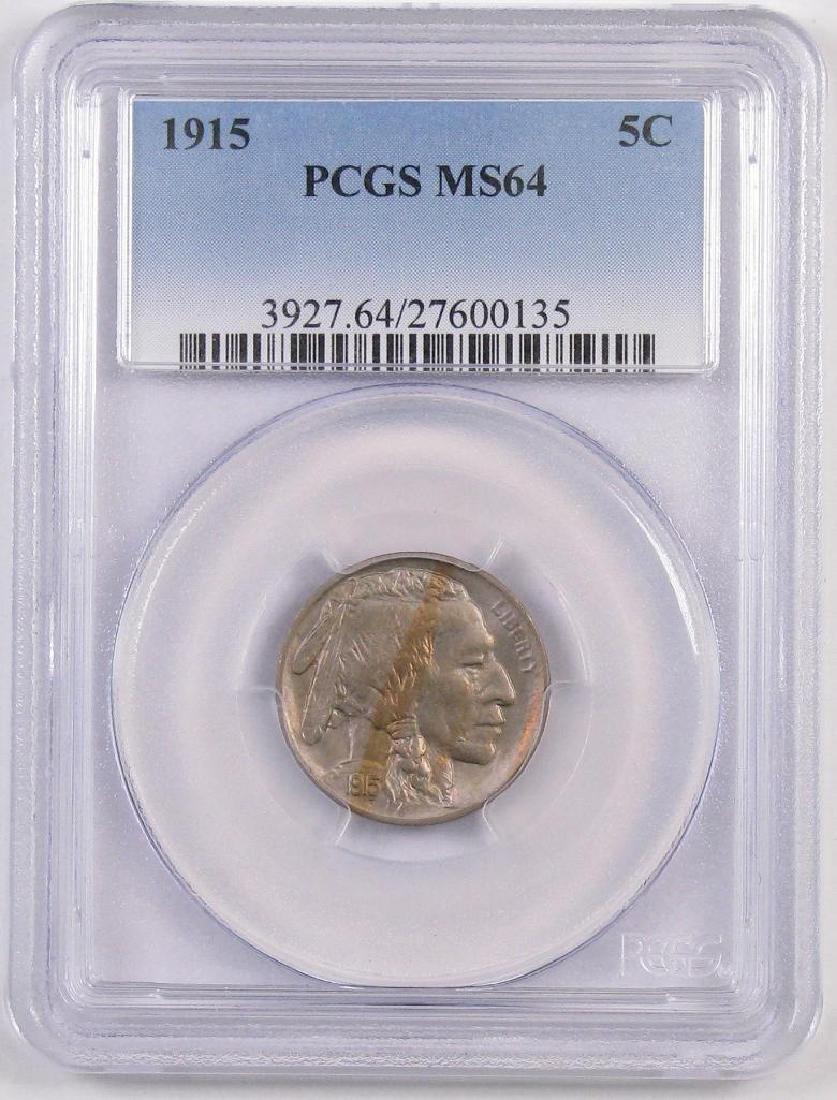 1915 P Buffalo Nickel (PCGS) MS64.