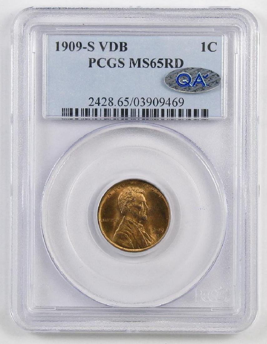 1909 S V.D.B. Lincoln Wheat Cent (PCGS) MS65RD with QA