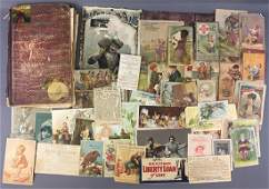 Large Group of Antique/Vintage Advertising Trade Cards
