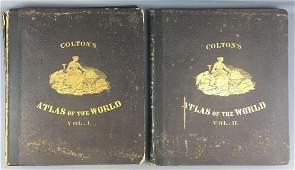 RARE Complete set 1856 Colton s Atlas of the World