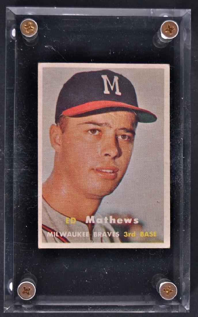 1957 Topps Ed Mathews Baseball Card