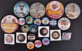 Group of Vintage Baseball Pinbacks