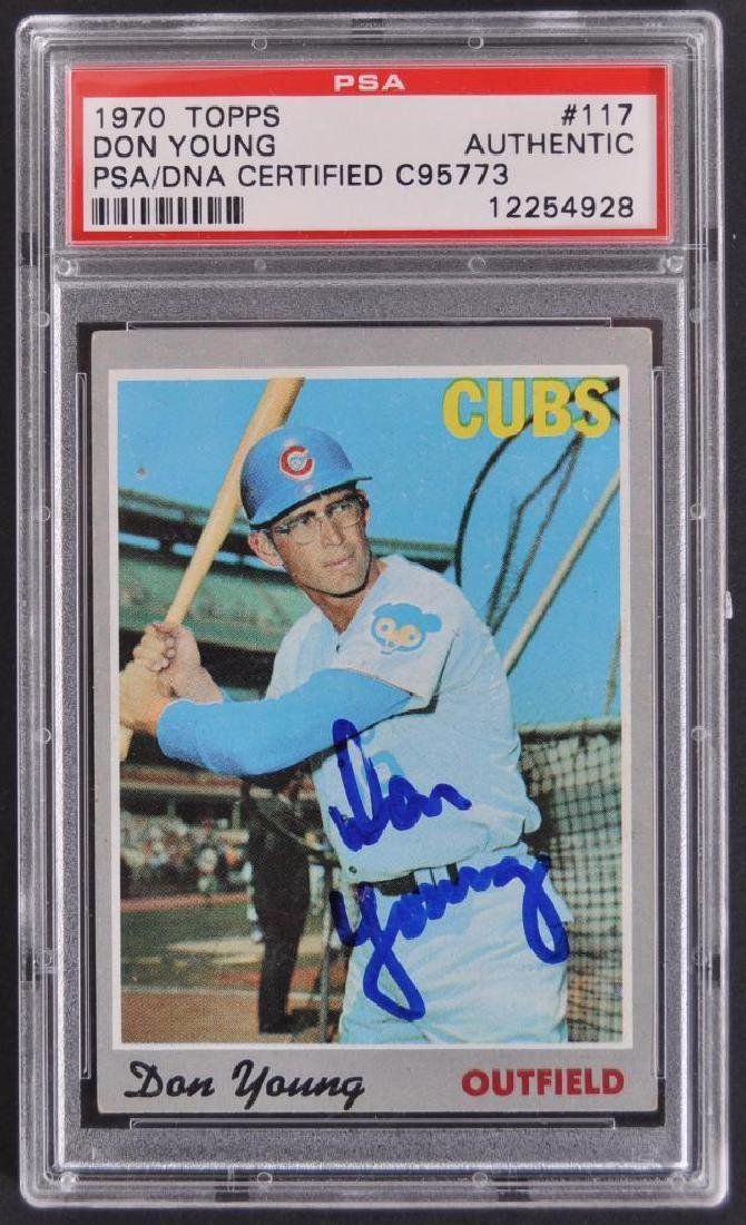 Signed 1970 Topps Don Young Baseball Card