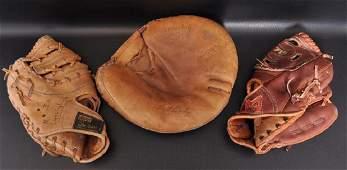 Group of 3 Vintage Baseball Gloves