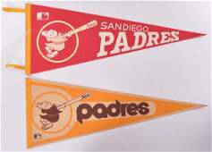 Group of 2 1960s/70s San Diego Padres Felt Pennants