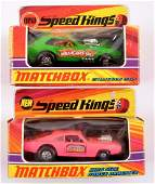 Group of 2 Matchbox Speed Kings Die-Cast Cars with