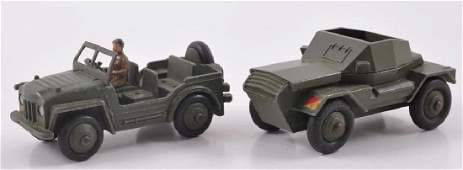 Group of 2 Dinky Toys DieCast Military Vehicles