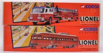 Group of 2 Corgi Classics Lionel City DieCast Vehicles