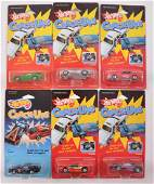 Group of 6 Hot Wheels Crack Ups DieCast Cars in