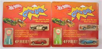Group of 2 Hot Wheels Crack Ups Gift Sets in Original