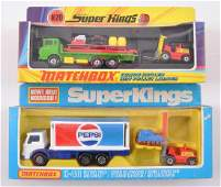 Group of 2 Matchbox Super Kings Die-Cast Vehicles with