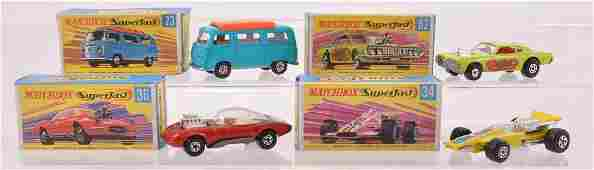 Group of 4 Matchbox Superfast Die-Cast Vehicles with