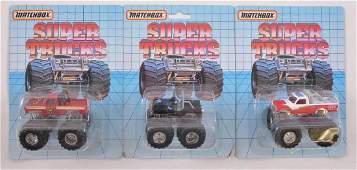 Group fo 3 Matchbox Super Trucks Die-Cast Monster
