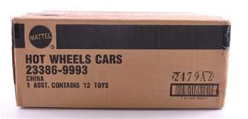 Sealed Shipping Box of Mattel Hot Wheels DieCast Cars