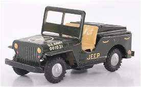 Japanese Tin Friction US Army Jeep