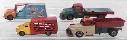 Group of 4 Vintage Tin Litho Vehicles