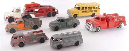 Group of 7 Hubley Kiddie Toy DieCast Vehicles