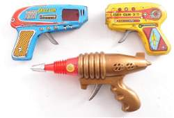 Group of 3 Vintage Space Guns