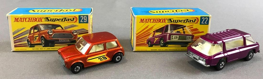 Group of 2 Matchbox Superfast die cast vehicles No. 22
