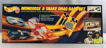 Hot Wheels Mongoose and Snake Drag Race Set new in