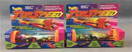 Group of 2 Hot Wheels Top Speed Die-Cast Launch Sets In