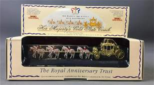 Matchbox Models of Yesteryear Her Majesty Gold State