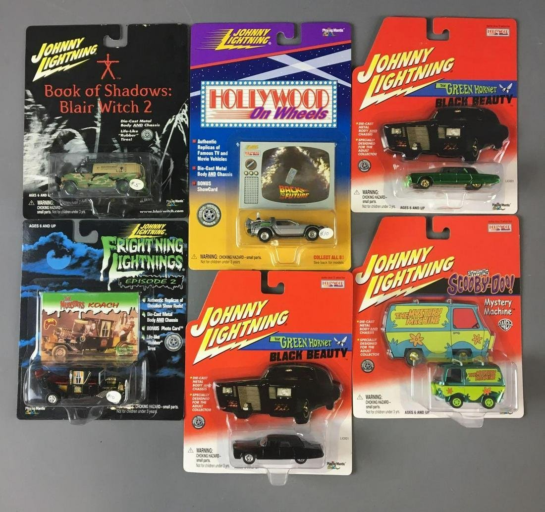 Group of 6 Johnny Lightning Die-Cast Vehicles In