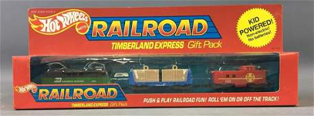 Hot Wheels Die-Cast Railroad Timberland Express Gift