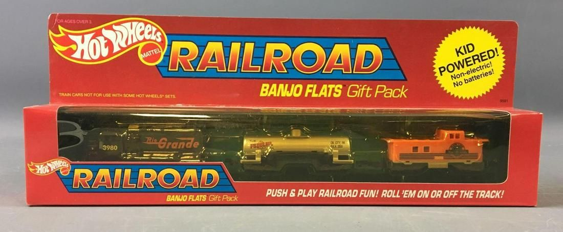 Hot Wheels Die-Cast Railroad Banjo Flats Gift Pack In