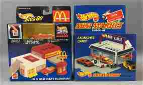 Group of 2 Hot Wheels Sto and Go Sets In Original Boxes
