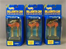 Group of 3 Hot Wheels Billionth Car Die-Cast Cars In