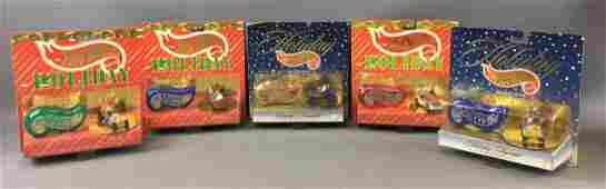 Group of 5 Hot Wheels Holiday Die-Cast Vehicle Gift