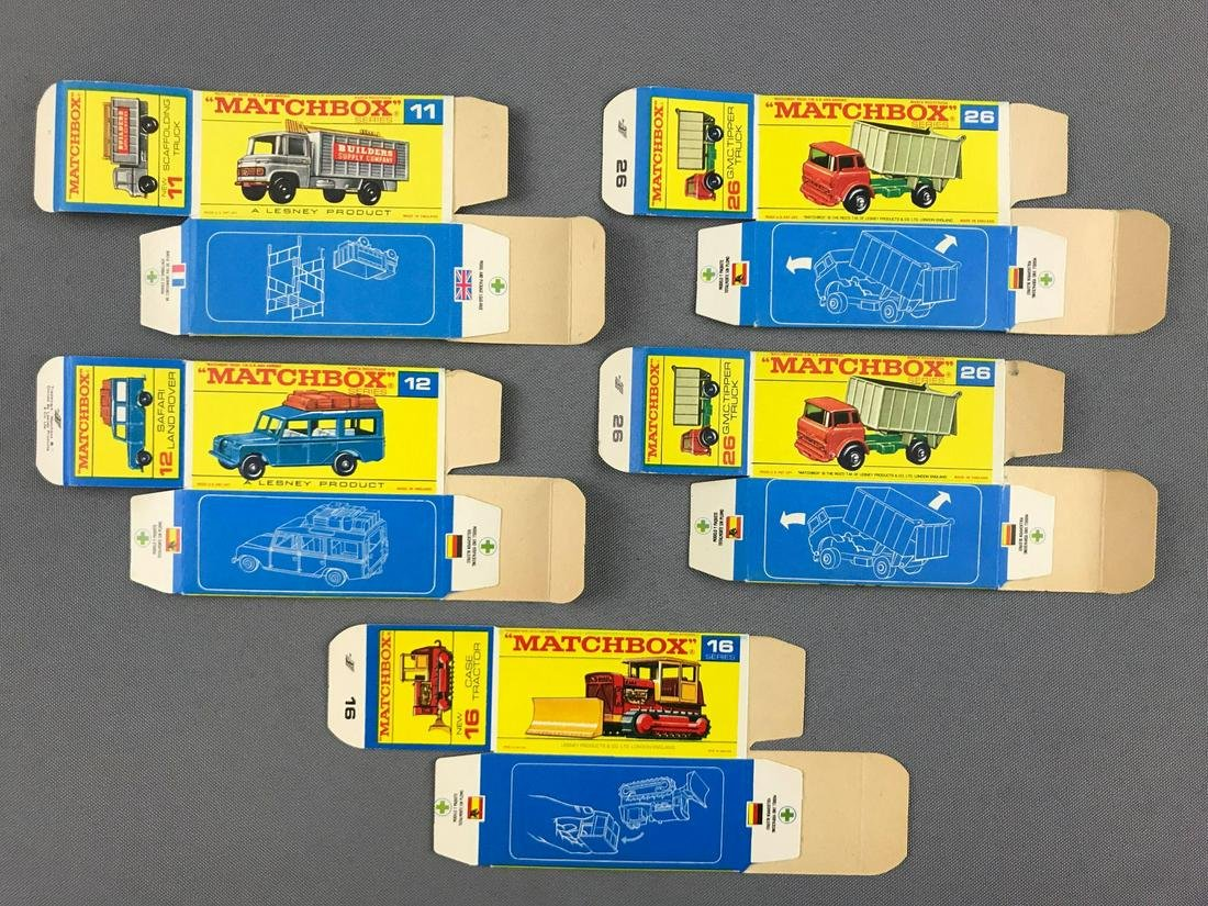 Group of 5 Matchbox boxes F box