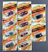 Group of 10 Gold Metal Grippers die cast vehicles in