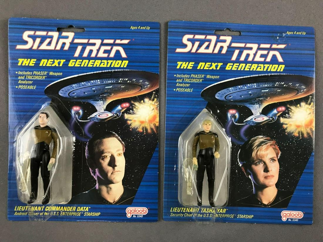 Group of 2 Star Trek The Next Generation action figures