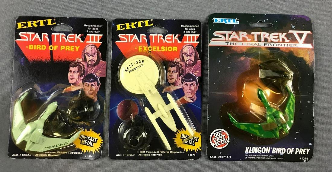 Group of 3 Ertl Star Trek die cast vehicles in original