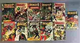 Group of 11 Marvel Comics The Avengers Comic Books