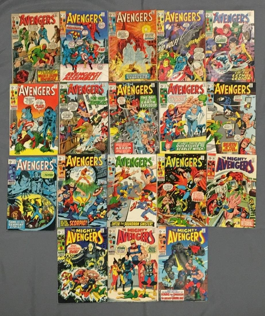 Group of 18 Marvel The Avengers Comic Books