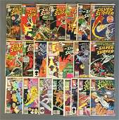 Group of 22 Marvel Comics The Silver Surfer Comic Books