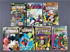 Group of 7 Marvel Comics Doctor Strange Comic Books