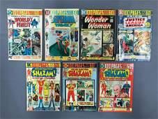 Group of 7 DC Comics Superman, Shazam, Wonder Woman