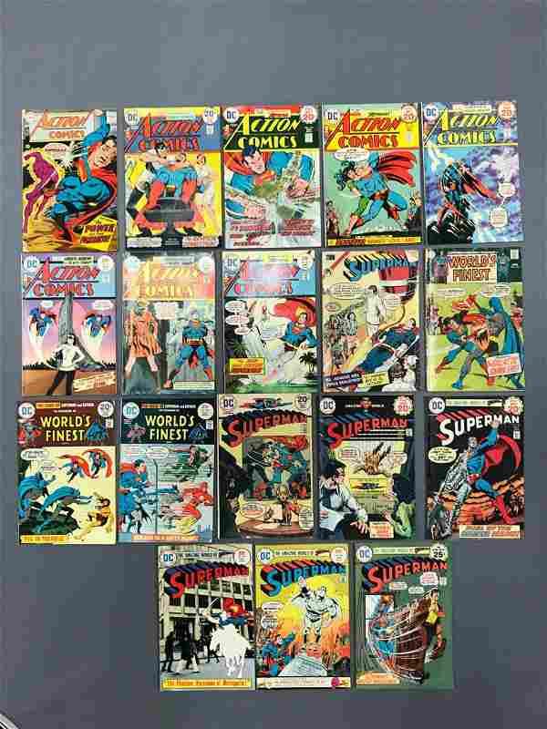 Group of 18 DC comic action comics/Superman comic books