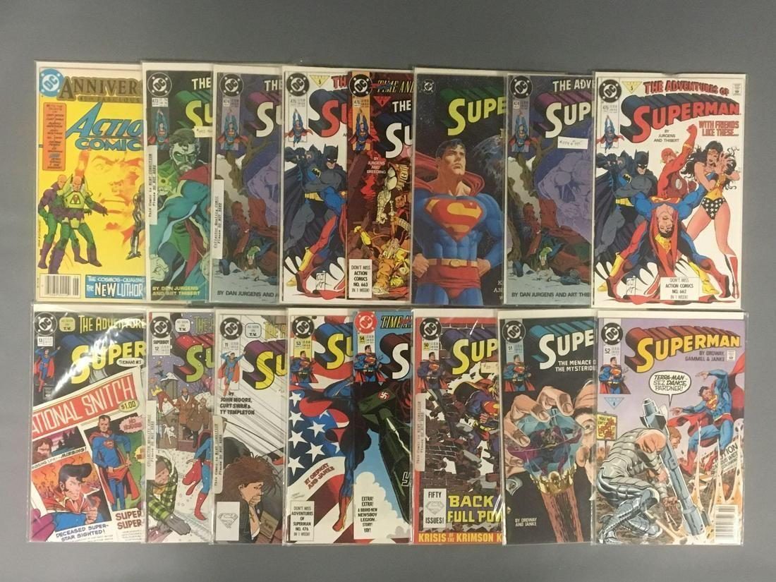 Group of 16 DC Comics Superman Comic Books