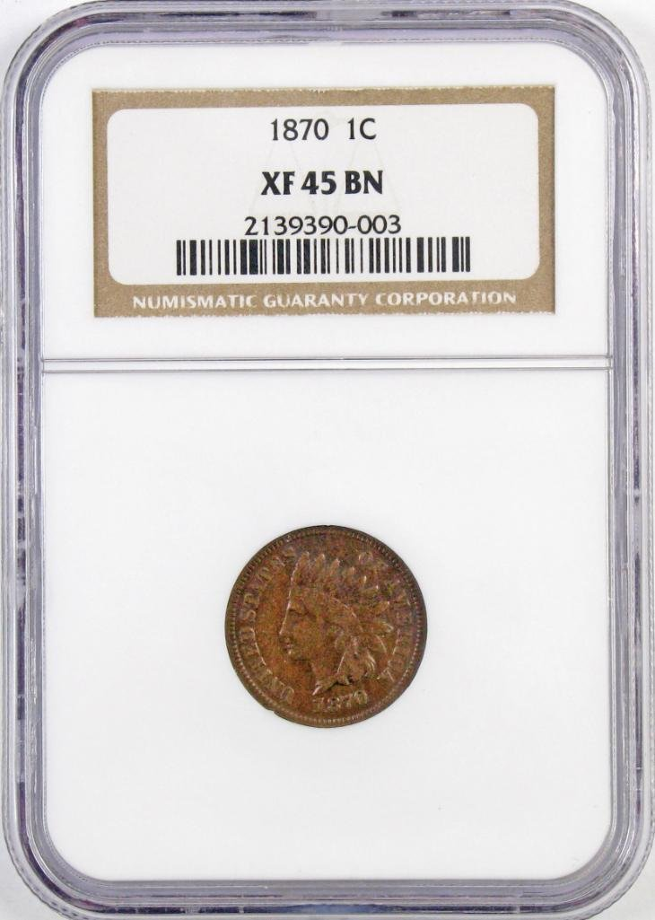 1870 Indian Head Cent (NGC ) XF45BN.