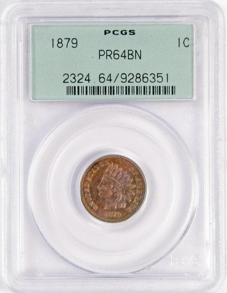 1879 Indian Head Cent (PCGS) PR64BN.